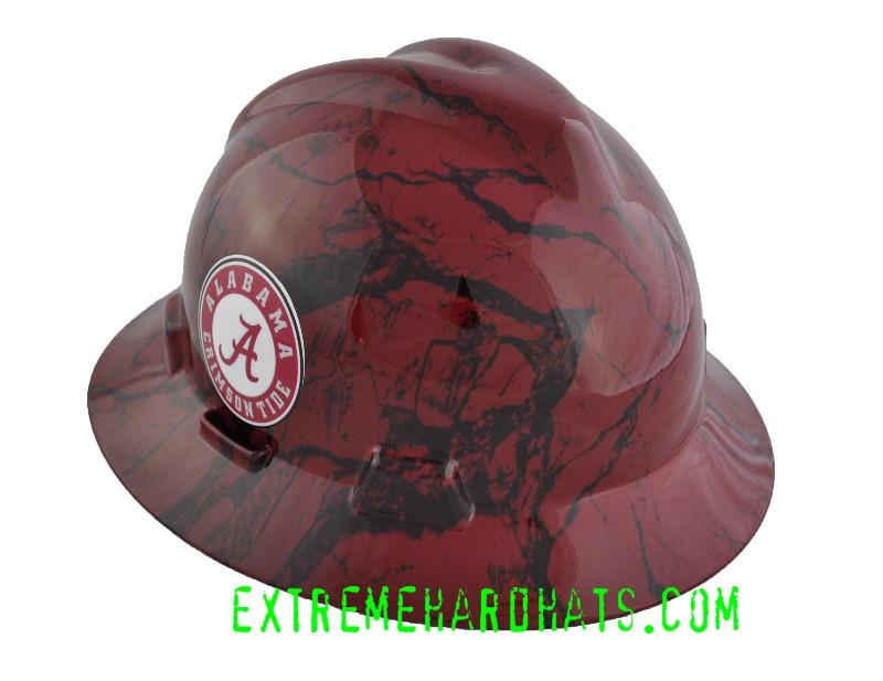 Alabama Roll Tide College Cool Custom Team Hard Hat Oilfield da82ce825098