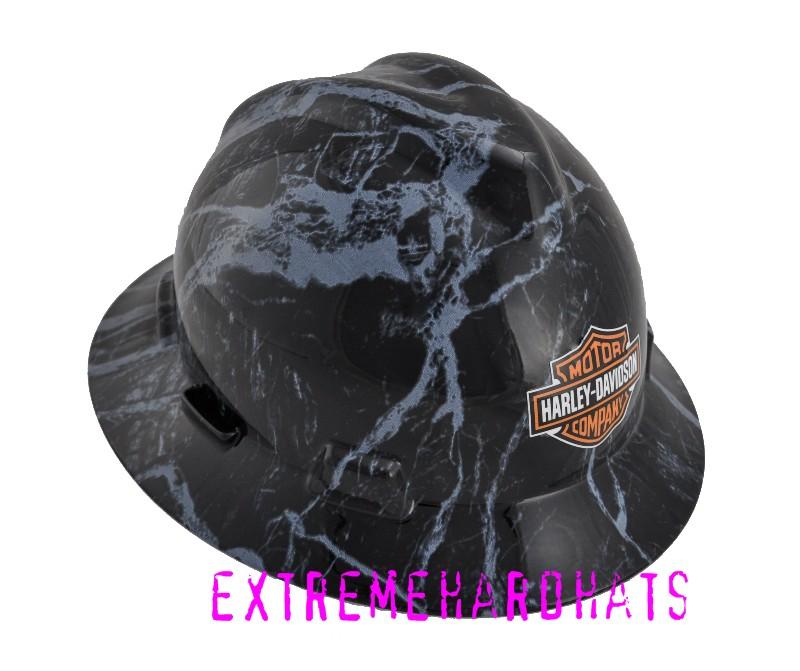 Skulls Silver Blue Dead Heads Hard Hat Oilfield Construction