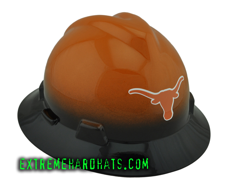 Texas Longhorns College Football Cool Custom Team Hard Hat Oilfield 6338a1f00fde