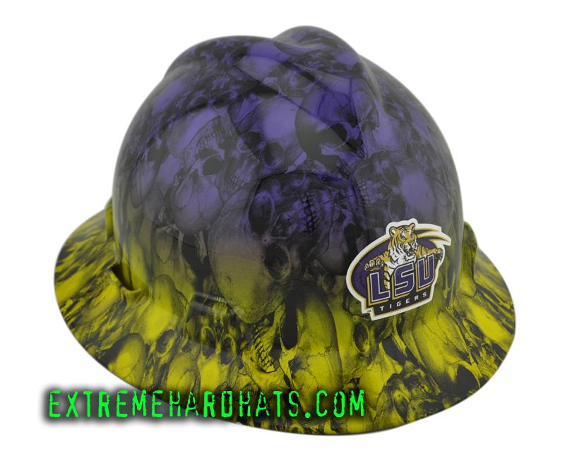 a4b7df3fa3dbdf LSU 2 Tone Skull Duggary College Football Team MSA V-Gard Hard Hat