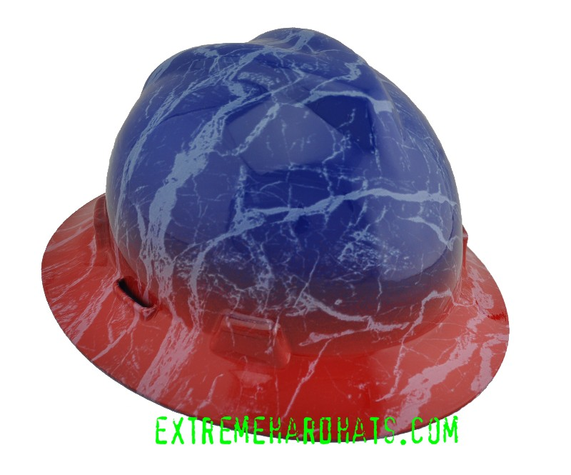 a392de5f6a3f70 Red Blue Texas Rangers Sports Colors LA Tech Hard Hat Oilfield
