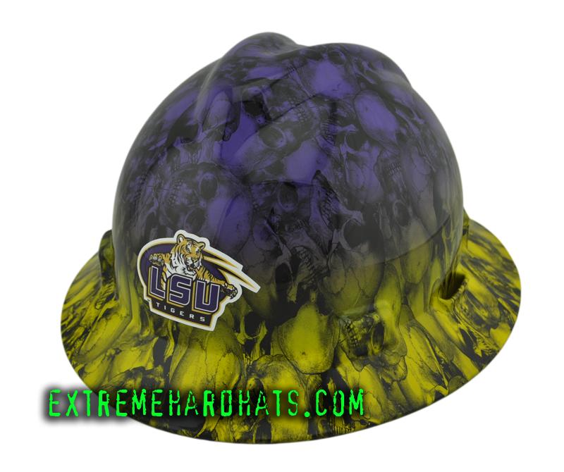 Lsu 2 Two Tone Skull Duggary Football Hard Hat Oilfield