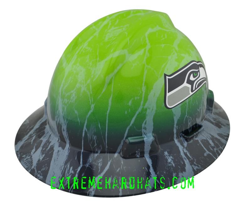 seattle seahawks nfl football hard hat oilfield
