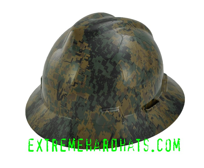 6b9bd13db37 Woodland Digital Military Camo Camoflauge Hard Hat Oilfield