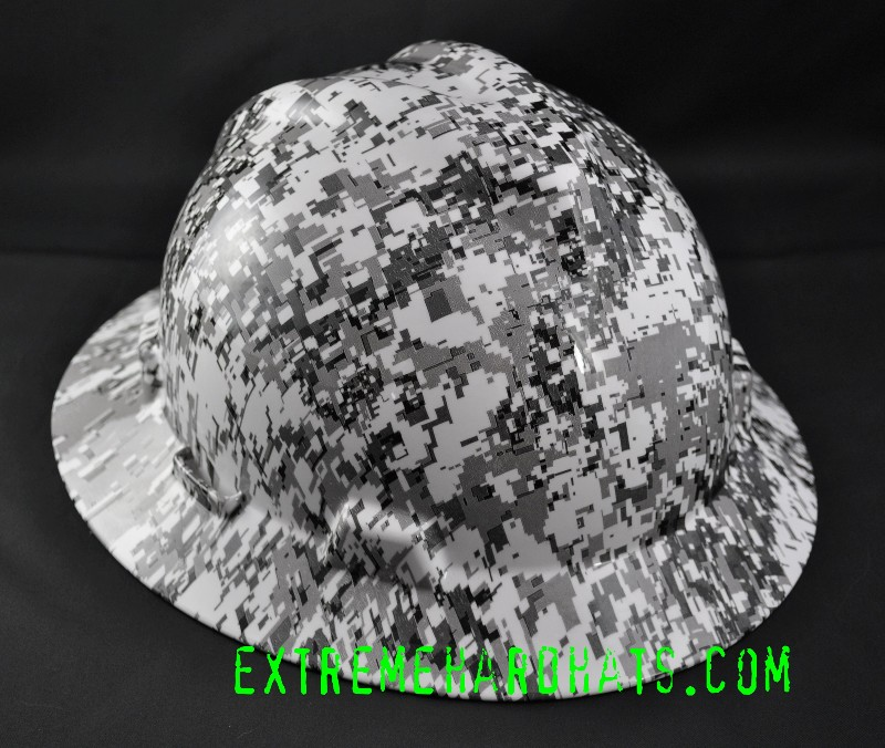 e096f9b3380 Snow Digital Military Camo Camoflauge Hard Hat Oilfield