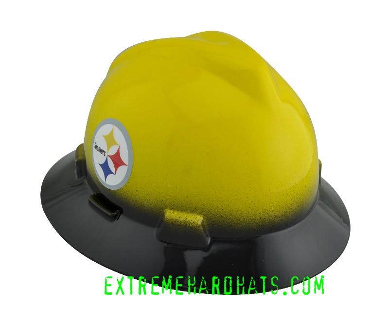 6f7f37a53 Pittsburgh Steelers 2 Tone Yellow Black NFLTeam MSA V-Gard Hard Hat