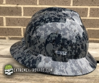 Extreme Hardhats Blue Navy Digital Military  Camo Hard Hat