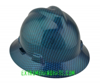 Extreme Hardhats Oilfield carbon Fiber checks silver black Hard Hat