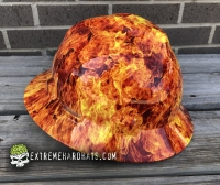 Extreme Hardhats Red Flames Skulls Hard Hat