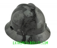 Extreme Hardhats Oilfield Flames Fire Smoke Hard Hat