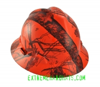 Extreme Hardhats Mossy Oak Blaze Orange Hard Hat